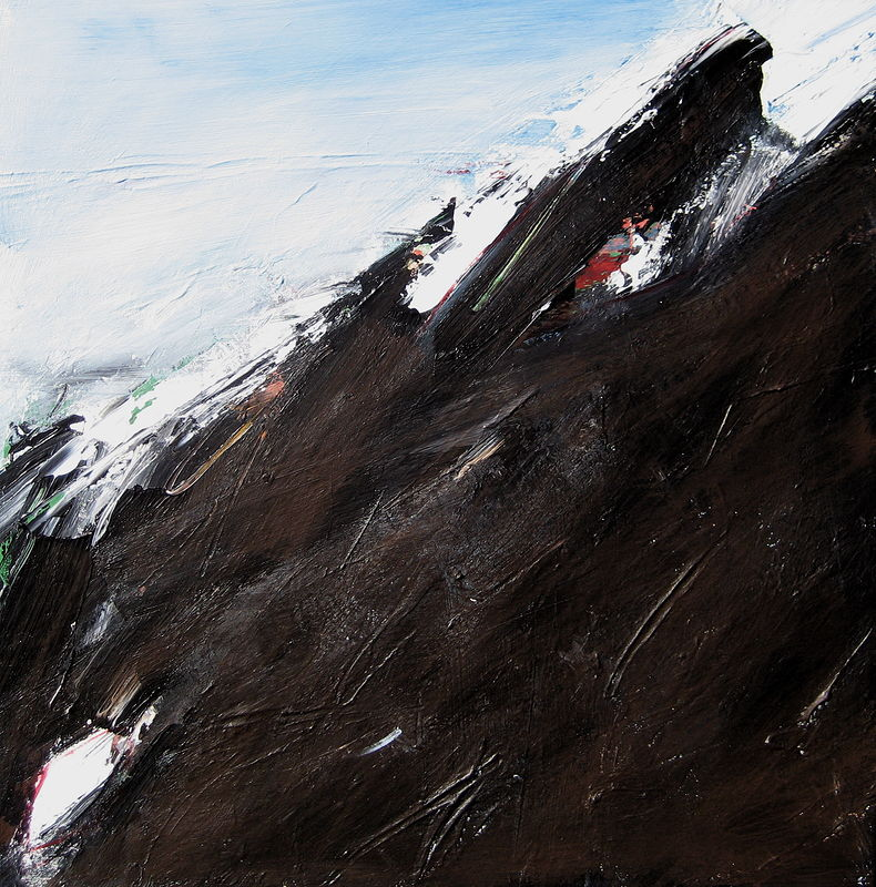 Acrylic painting Black Tusk #8 by David Tycho