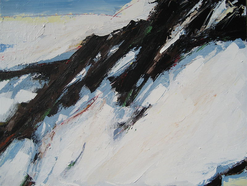 Acrylic painting Black Tusk #10 by David Tycho