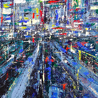 Acrylic painting Shinjuku #3 by David Tycho