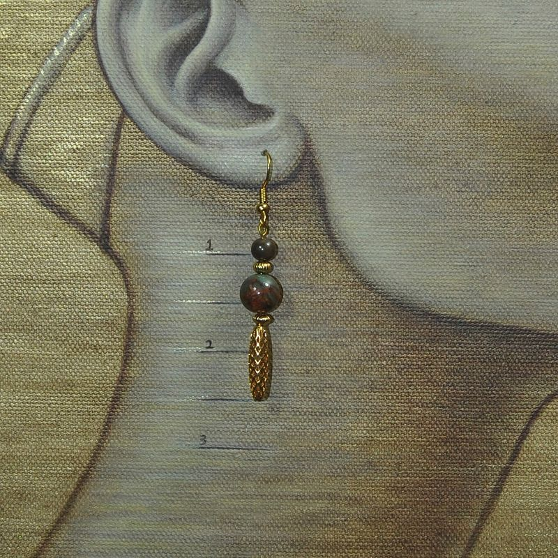 "Nefertiti's choice: shown wearing ""Molten Earth"" by Sue Ellen Brown"