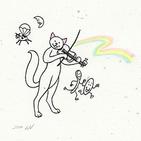 Print The Cat and the Fiddle by Sue Ellen Brown