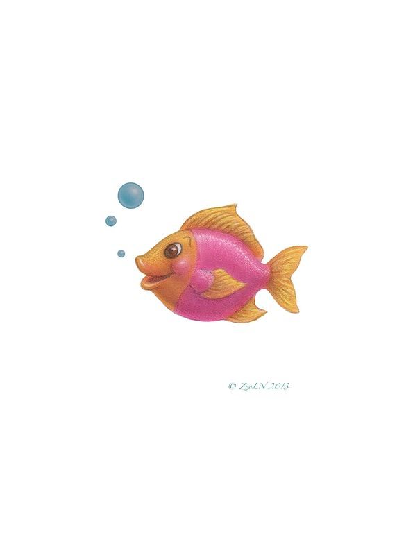 Print Little Fishie Sherill by Sue Ellen Brown