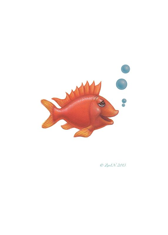 Print Little Fishie Phil by Sue Ellen Brown