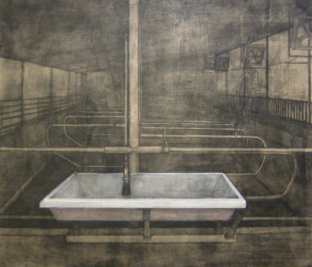 Drawing BASIN II by Amie t. Rangel
