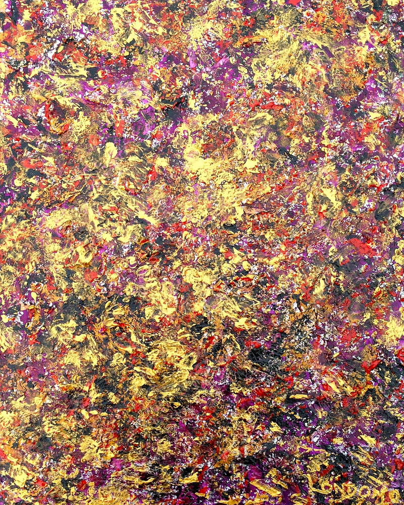 Acrylic painting GOLDEN MULTI by Jose Londono
