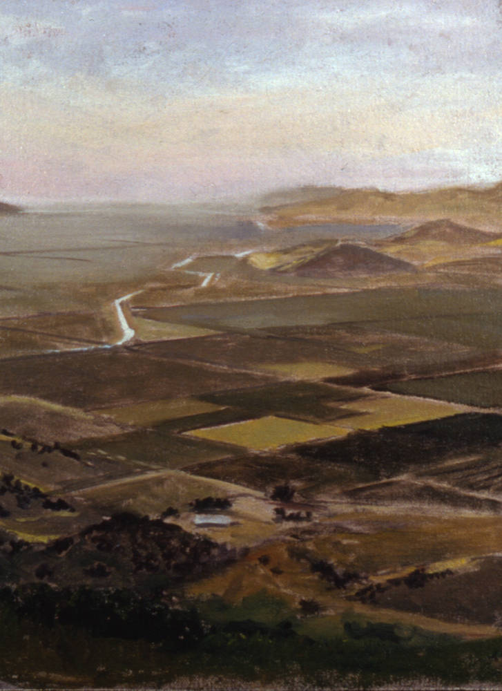 Oil painting San Joaquin Valley by Matthew Rangel