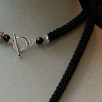 Black rope necklace by Vicki Allesia