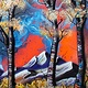 Acrylic painting Abstract Aspens XVII by Isaac Carpenter