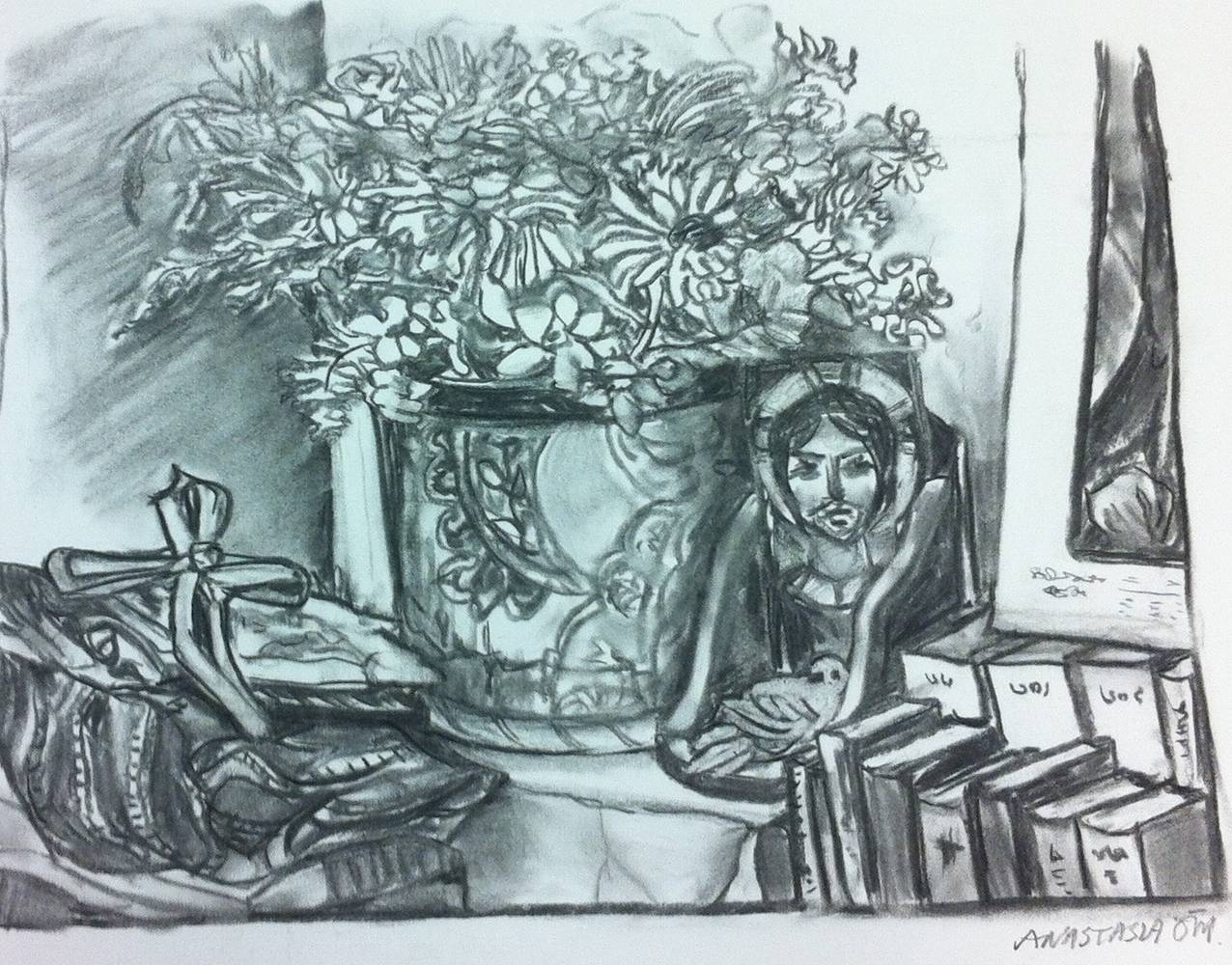 Drawing Corner of My Room by Anastasia O'melveny