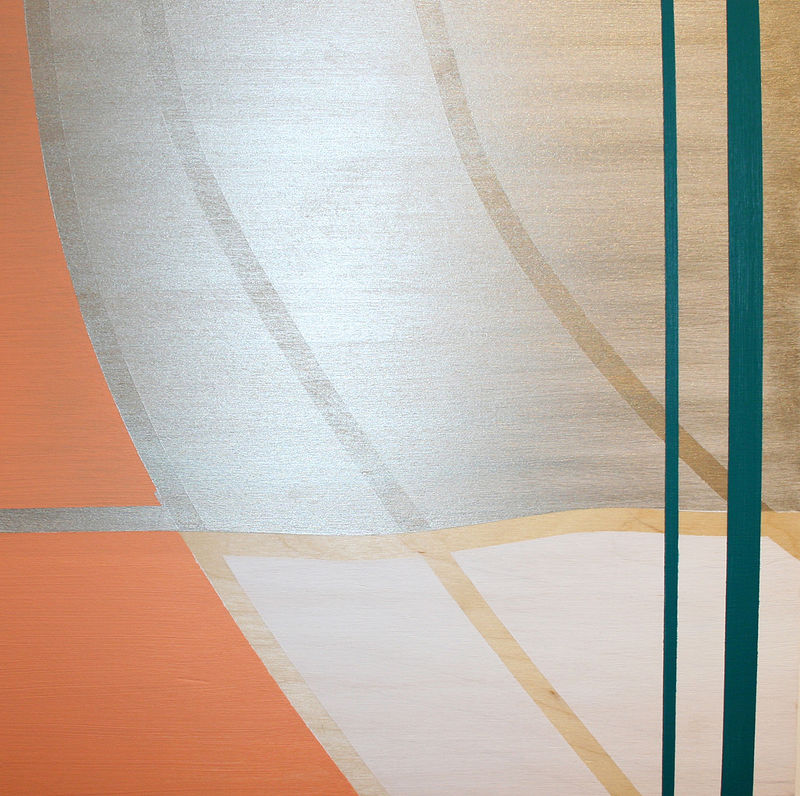 Acrylic painting Almost Peach Curve by Erin  Mackeen