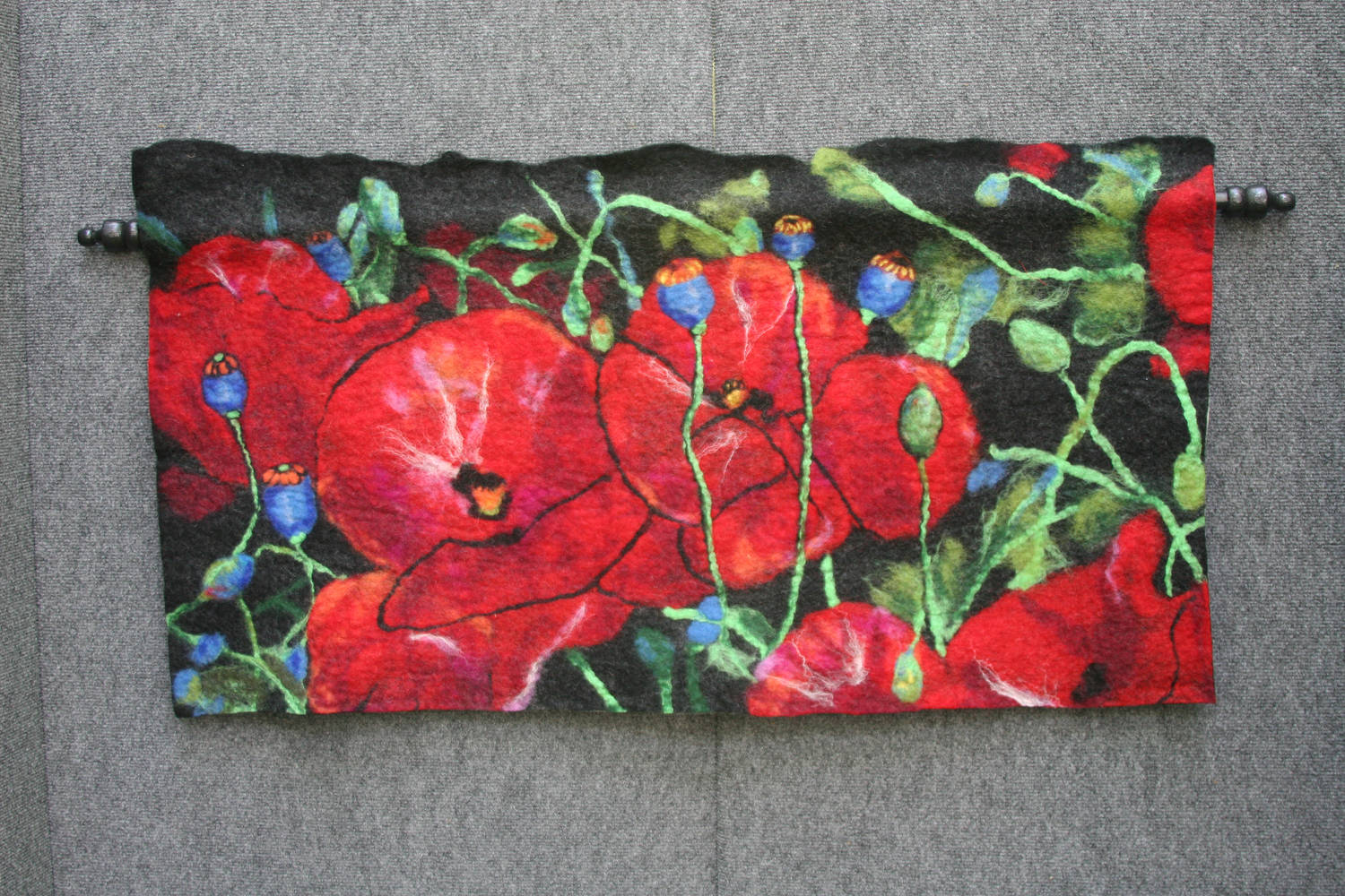 Painting Red Poppies by Valerie Johnson