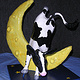 Sculpture Cow Jumped Over the Moon by Valerie Johnson