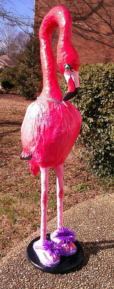 Sculpture Flamingo in Flip Flops by Valerie Johnson