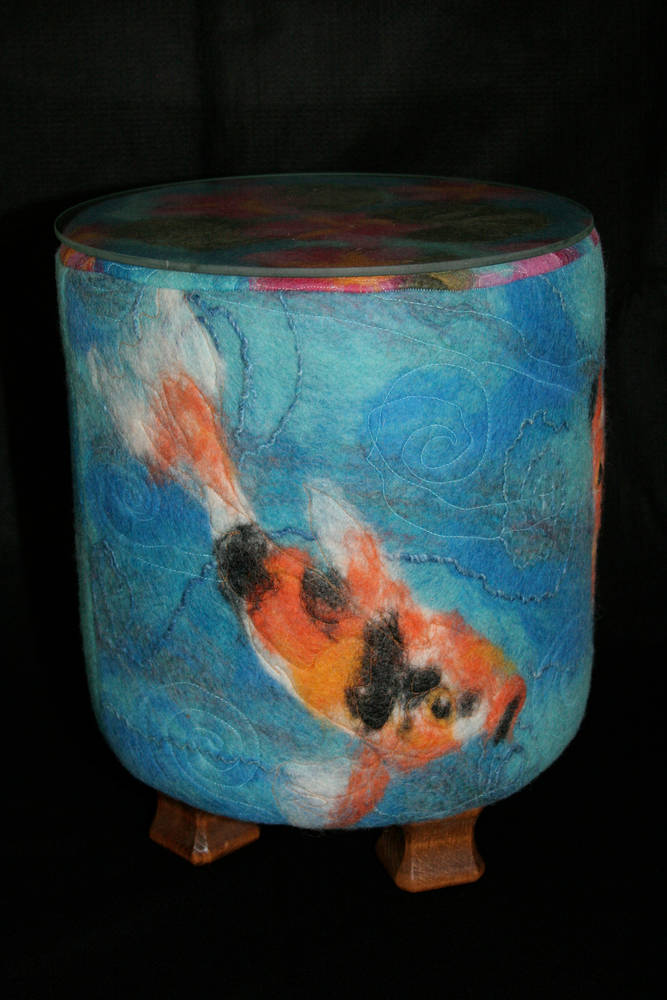 Koi ottoman table by Valerie Johnson