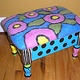 Flowered footstool by Valerie Johnson