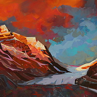 Icefields Morning  Acrylic 20x30 2013 by Brian  Buckrell