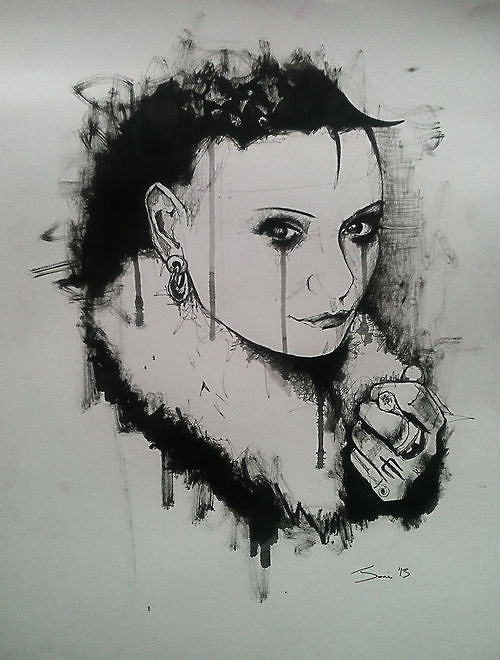 Drawing Silvia Zed by Joni Belaruski