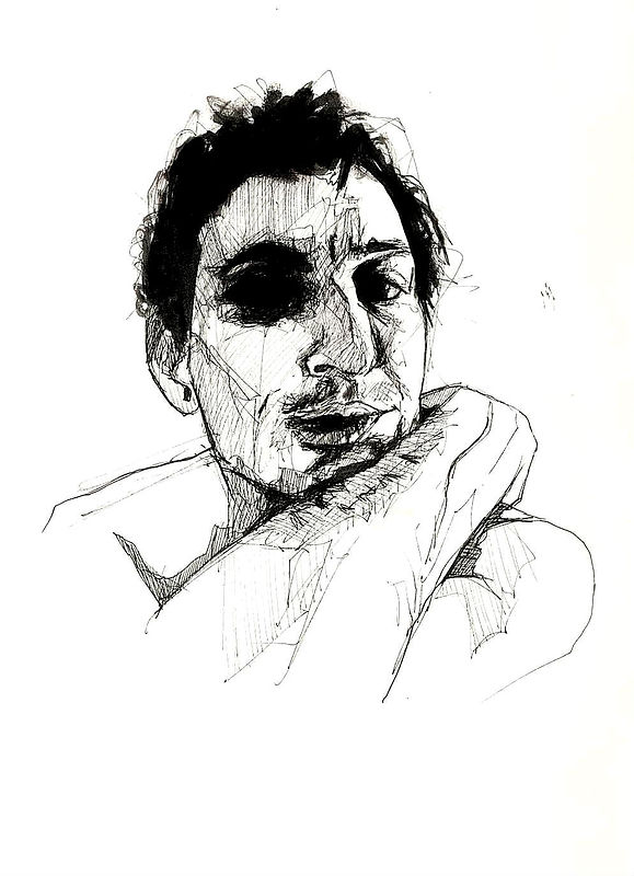 Drawing Jonny Polonsky by Joni Belaruski
