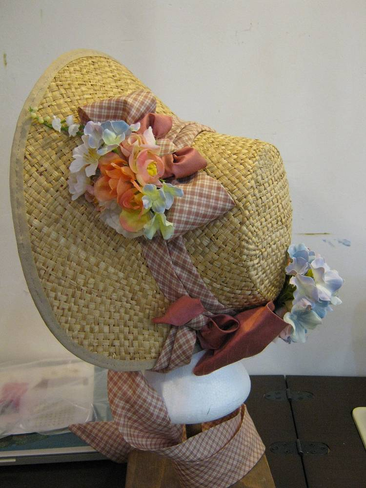 Straw Bonnet by Angela Dale