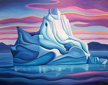 Oil painting Arctic Light, 2006 by Linda Lang