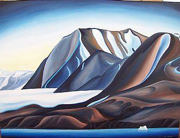 Oil painting Glacier Patterns, 2007 by Linda Lang