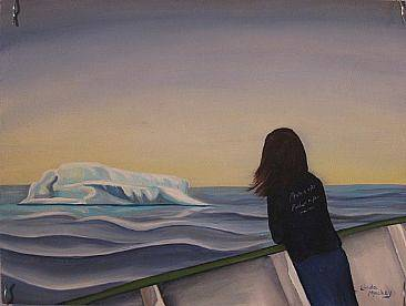 Oil painting First Iceberg, 2010 by Linda Lang