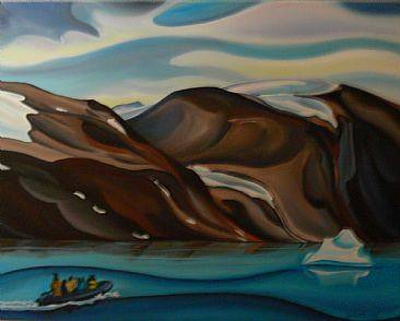 Oil painting Journey to the Glacier, 2009 by Linda Lang