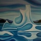 Oil painting Iceberg Family by Linda Lang