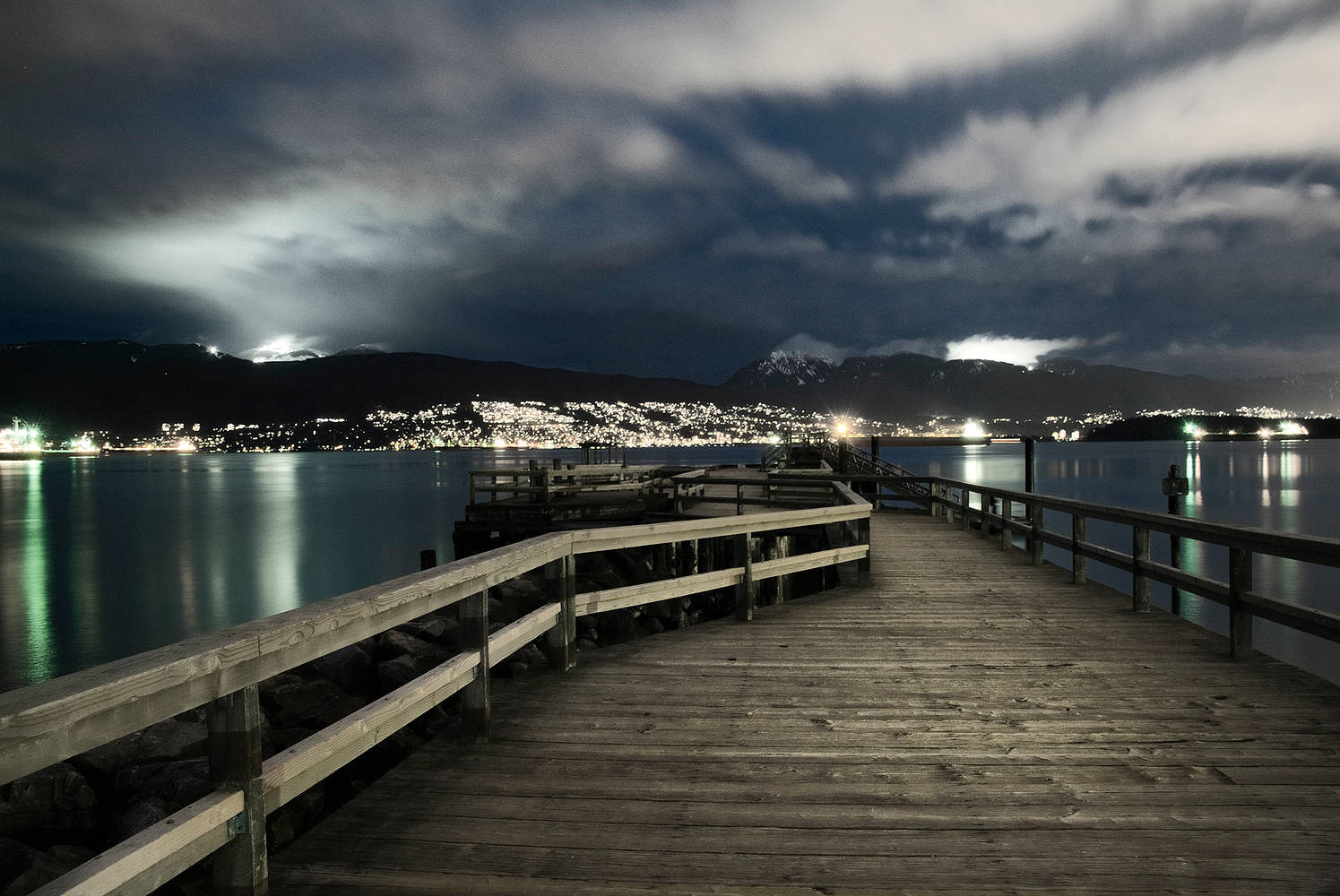 Jericho Pier At Night by Jim Friesen