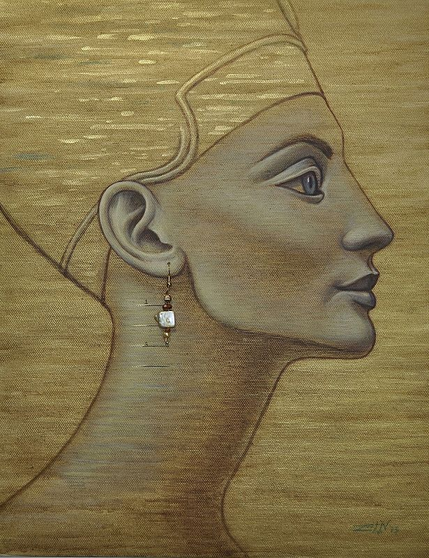Acrylic painting Nefertiti by Sue Ellen Brown