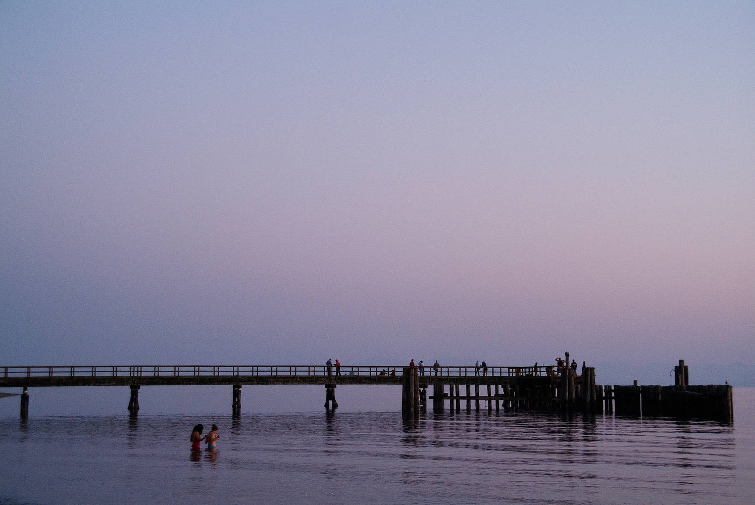 Pier In Moonlight by Jim Friesen