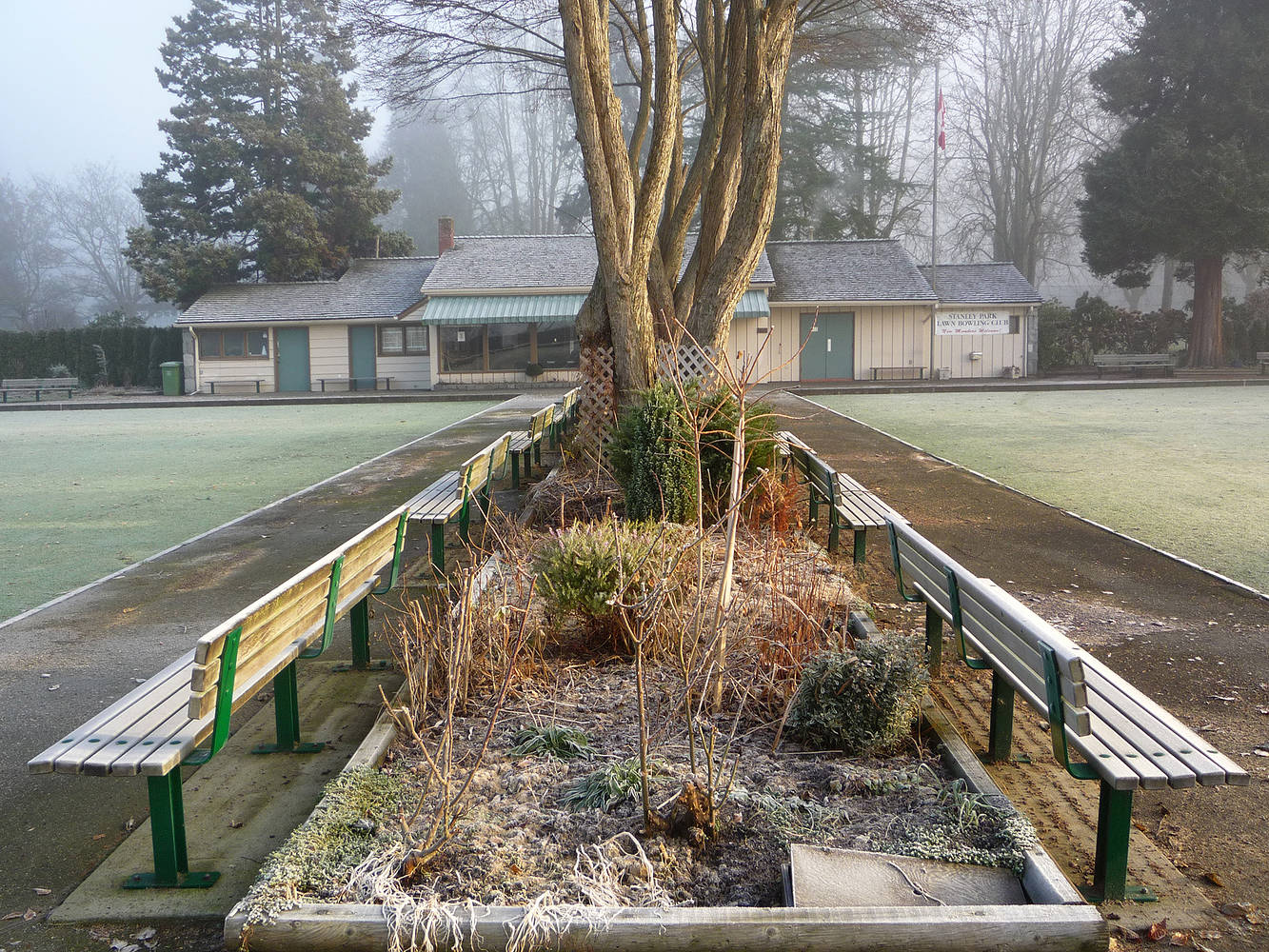 Stanley Park Lawn Bowling Club by Jim Friesen