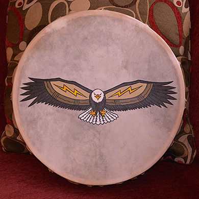 Acrylic painting Migizi Drum by Clayton King