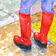 Red Boots by Deborah Carman