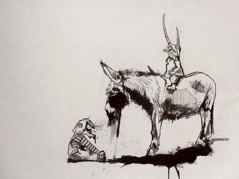 Drawing Donkey Dust by Joni Belaruski