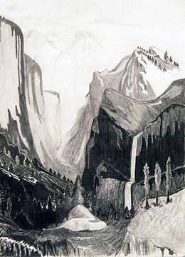 Drawing Mountain Scenery by Clayton King