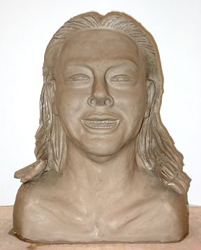 Self Portrait Bust (View 1) by Clayton King