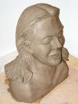 Self Portrait Bust (View 2) by Clayton King