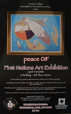 Peace 08 Exhibition Poster by Clayton King