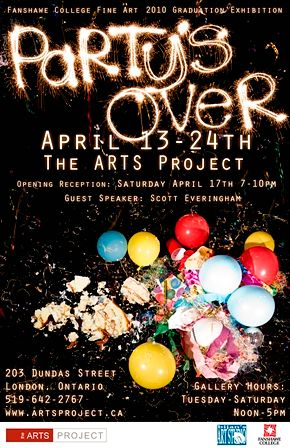 Party's Over Exhibition Poster by Clayton King