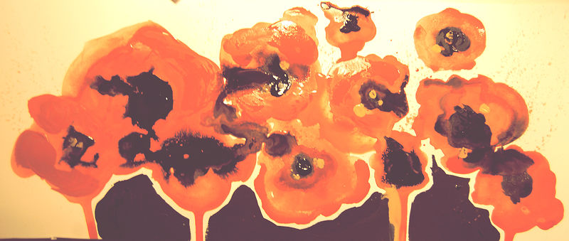 Watercolor Poppies by Allison Vince