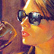 "Oil painting ""Afternoon Pinot"" by Kim Fujiwara"