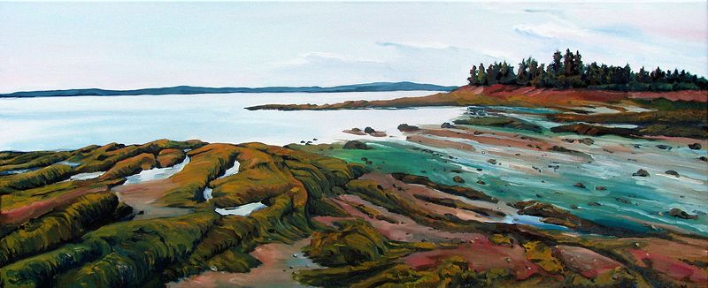 Oil painting Pottery Cove by Michael McEwing