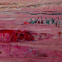Acrylic painting Red Horizon by Agnes Friedlander