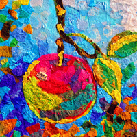 Painting Apple Shaped by Agnes Friedlander