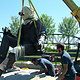 Installing bronze onto monolith by Forest Boone