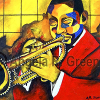 Jazz Rhythms I by Angela  Green
