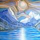 Oil painting Slocan Lake Northview-New Denver,B.C. by Gary Doll