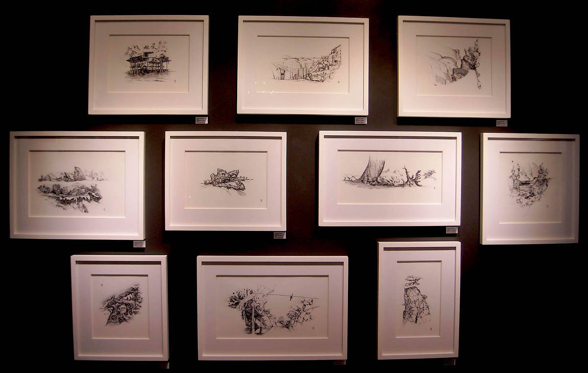 Drawing Ink work, framed by Hendrik Gericke