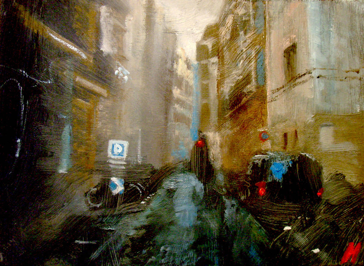 Oil painting Paris #2 by Hendrik Gericke
